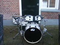 DW drums Collector White Marine Black HW