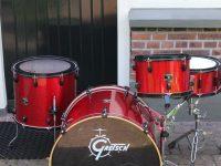 Gretsch drumset Red Black HW